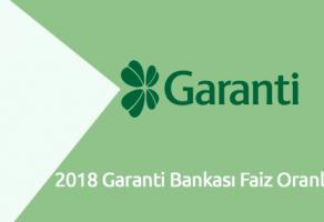 2018 Garanti Bankası Faiz Oranları
