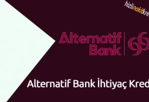 Alternatif Bank İhtiyaç Kredisi