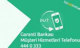 Garanti Bankası Müşteri Hizmetleri Telefonu 444 0 333