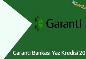 Garanti Bankası Yaz Kredisi 2018