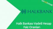 Halk Bankası Vadeli Hesap Faiz Oranları