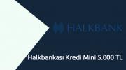 Halkbankası Kredi Mini 5.000 TL