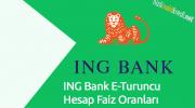 ING Bank E-Turuncu Hesap Faiz Oranları