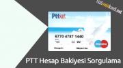 PTT Hesap Bakiyesi Sorgulama