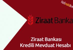 Ziraat Bankası Kredili Mevduat Hesabı